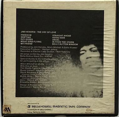 jimi hendrix reel to reel /cry of love reprise bell & howell tape company