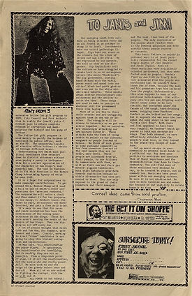 jimi hendrix newspapers 1970 / street journal  october 23,  1970