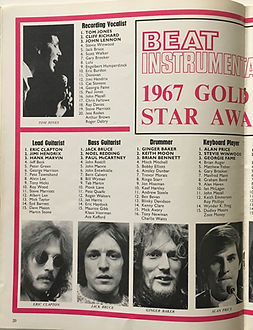jimi hendrix magazine/beat instrumental february 1968/ gold star awards 1967