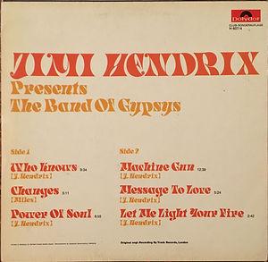 jimi hendrix collector vinyls/jimi hendrix presents the band of gypsys  1972 germany club-sonderauflage