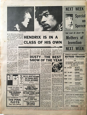 jimi hendix collector newspapers/melody maker/23/9/67  hendrix is in a class of his own