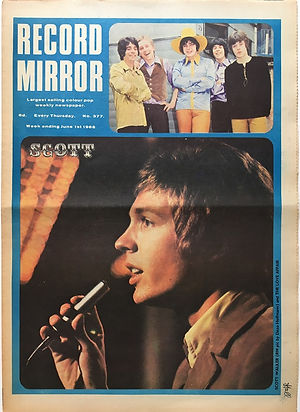 jimi hendrix collector newspaper/june 1 record mirror 1968