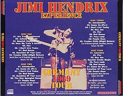 jimi hendrix bootleg cd 1969/germany tour 1969