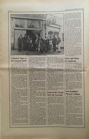 jimi hendrix newspaper 1970 /rolling stone  feb. 21, 1970 / noel redding