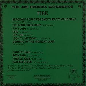 jimi hendrix collector lp 33t vinyls bootlegs/ fire swingin'pig records 1989