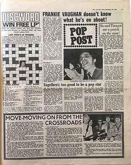 jimi hendrix collector newspapes/disc music echo 30/9/67  discword