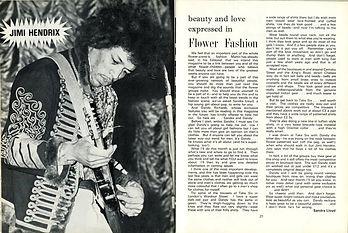 jimi hendrix magazine1967/flowerscene october 1967