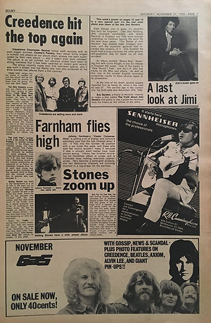 jimi hendrix newspapers: go set Nov. 21, 1970