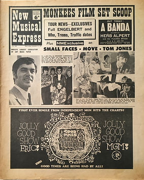 jimi hendrix collector newspapers/new musical express 23/9/67