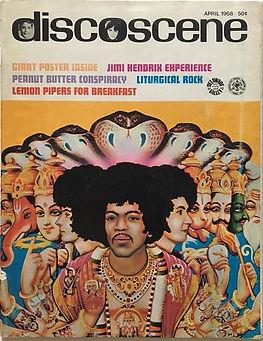 jimi hendrix magazine collector/discoscene &  wapescene april 1968