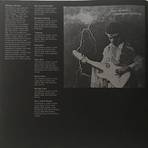 jimi hendrix memorabilia book / promotion book polydor 1975 / midnight lightning