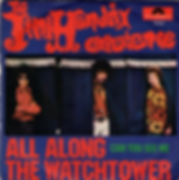 jimi hendrix collector singles/45t all along the watchtower/can you see me / italy 1968