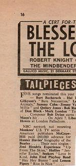 jimi hendrix newspaper/new musical express 2/3/68