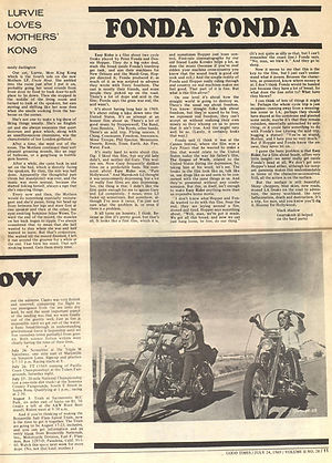 jimi hendrix newspaper 1969/good times july 24 1969/ ezy rider