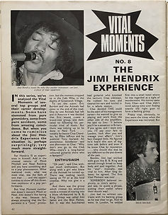 jimi hendrix magazine/beat instrumental : vital moments june 1968
