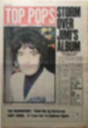 jimi hendrix newspaper 1968 / top pops 15/11/68 storm over jimi's album