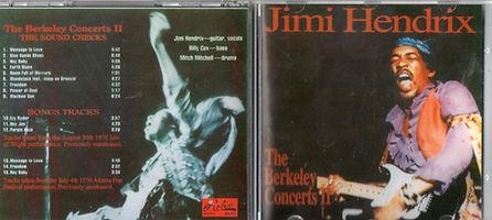 jimi hendrix bootlegs cds 1970 / the black elvis plays america / the berkeley concerts 2