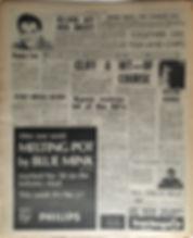 jimi hendrix newspapers 1969/ new musical express november 22, 1969