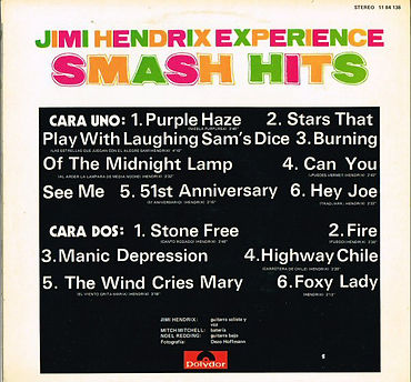 jimi hendrix vinyl / smash hits spanish