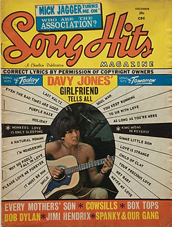 jimi hendix collecto magazine/song hits december 1967 jim hendrix 1/3 american 2/3 english experience