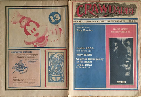 jimi hendrix newspapers: crawdaddy October 1970