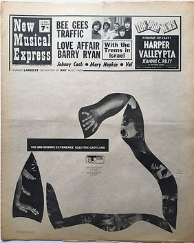 jimi hendrix newspaper 1968/new musical express november 2 1968
