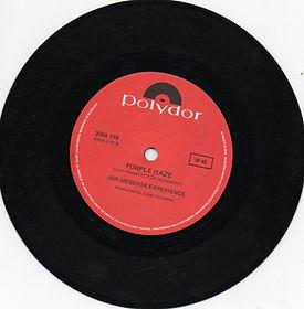 jimi hendrix vinyls singles collector/ side b / purple haze australia 1972