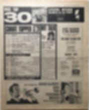 jimi hendrix newspaper 1968/disc music echo november 16/1968 top 30