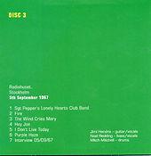 jimi hendrix box cd/disc 3/ stockholm 5/9/67