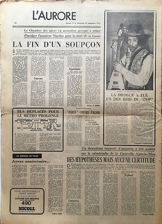 jimi hendrix newspapers 1970 / l'aurore sept. 19 & 20, 1970