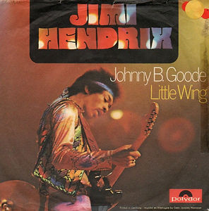 jimi hendrix vinyl single collector/johnny b.goode/little wing