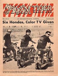 jimi hendrix newspaper/kfxm tiger radio 590/ usa 1967