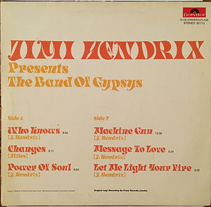 jimi hendrix collector vinyls / jimi hendrix presents the band of gypsys  1971 club/ germany