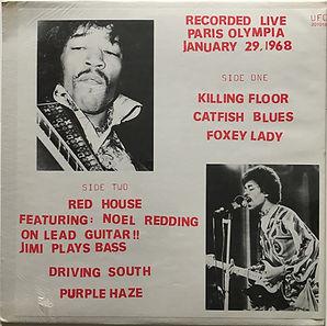 jimi hendrix vinyls bootlegs/recorded live paris olympia/color vinyl