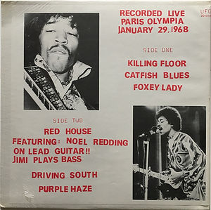 jimi hendrix vinyls bootlegs/recorded live paris olympia/color vinyl