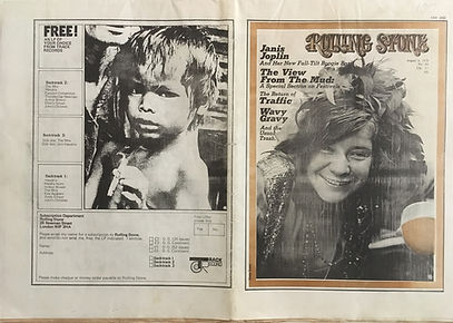 jimi hendrix newspapers 1970 / rolling stone  august 6,