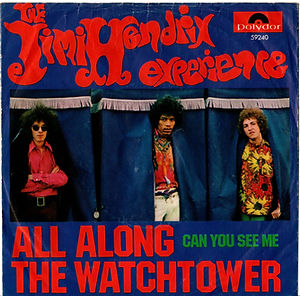 jimi hendrix collector vinyls singles 45t / all along the watchtower/can you see me  1968 norway