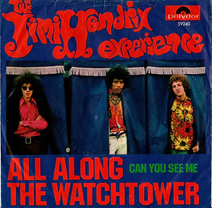 jimi hendrix collector singles 45t / all along the watchtower/can youn see me  germany 1968