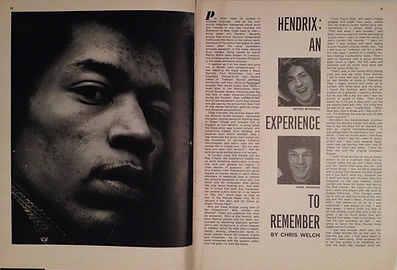 jimi hendrix magazine/music maker 6/67