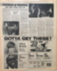 jimi hendrix newspaper/new musical express june 8 1968/ zurich with jimi, eric,move, koobas,traffic