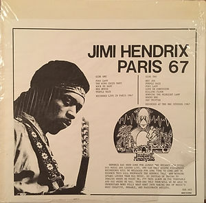 jimi hendrix collector vinyls bootlegs lp/33t/ jimi hendrix paris 67