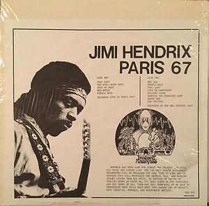 jimi hendrix collector vinyls bootlegs lp/33t/ jimi hendrix paris 67
