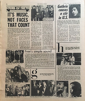 jimi hendrix newspaper 1970 / new musical express march 14 1970
