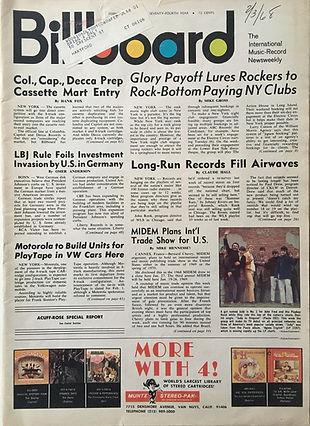 jimi hendrix magazines/billboard 3/2/68