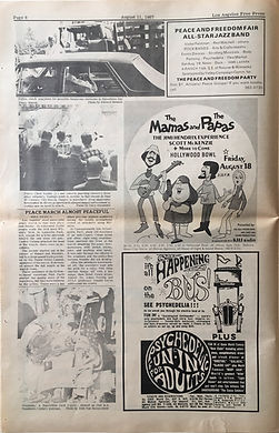 hendrix newspapers collector/free press  los angeles  1967