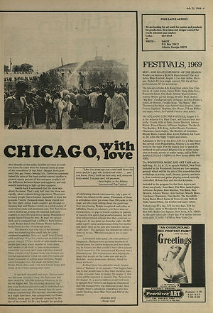 jimi hendrix newspaper 1969/the bird great speckled july 21 1969/ festival 1969 woodstock