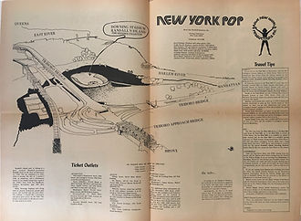 jimi hendrix newspapers 1970 / program  july  1970  new york pop