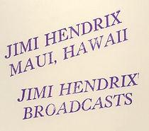 jimi hendrix bootlegs vinyls 1970 / tmoq :  maui hawii / broadcast  color