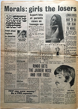 cue 2/3/1968 newspaper jimi hendrix collector