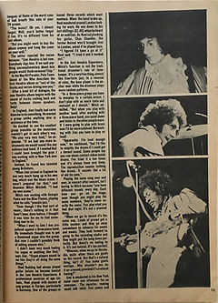 jimi hendrix magazine/hit parader part 2 experiences with....